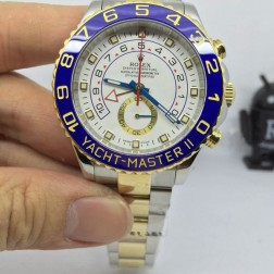 New Swiss Made Replica Rolex Yacht-Master II 116681-78211 Yellow Gold Two Tone 1:1 Mirror Quality SRY021