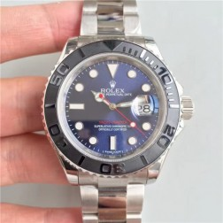 Swiss Made Replica Rolex Yacht-Master 116655 Blue Dial Ceramic Bezel 1:1 Mirror SRY022