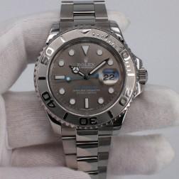 Swiss Made Replica Rolex Yacht-Master 116622 Grey Dial 1:1 Mirror Best Quality SRY105