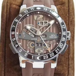 Swiss Made 1:1 Mirror Best Replica Ulysse Nardin El Toro/Black Toro Watch Brown Dial SUN003