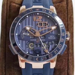Swiss Made 1:1 Mirror Best Replica Ulysse Nardin El Toro/Black Toro Rose Gold Watch Blue Dial SUN004