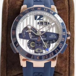 Swiss Made 1:1 Mirror Best Replica Ulysse Nardin El Toro/Black Toro Rose Gold Watch White Dial SUN005