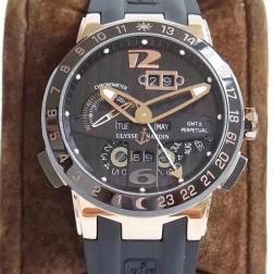 Swiss Made 1:1 Mirror Best Replica Ulysse Nardin El Toro/Black Toro Rose Gold Watch Black Dial SUN006