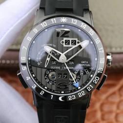 Swiss Made 1:1 Mirror Best Replica Ulysse Nardin El Toro/Black Toro PVD Black Watch Black Dial SUN009